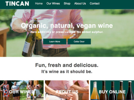 wine website ecommerce design